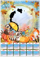 Календарь осенний с животными