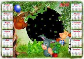 Календарь с Винни-Пухом