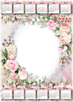 Женский календарь с розами