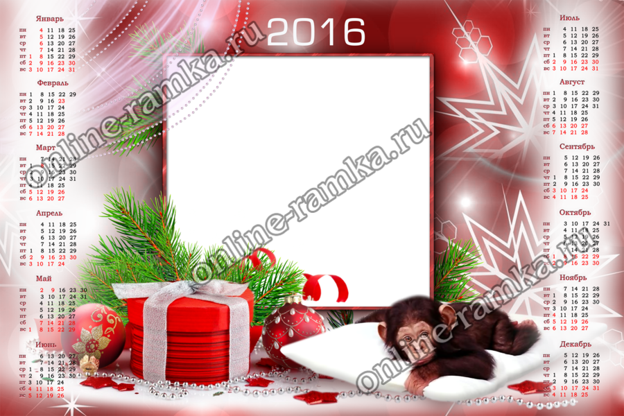 Фотошоп рамки и календари